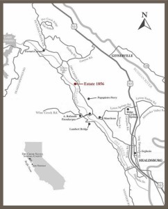 map of Dry Creek Valley