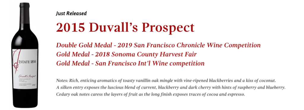 2015 Estate 1856 Duvall's Prospect