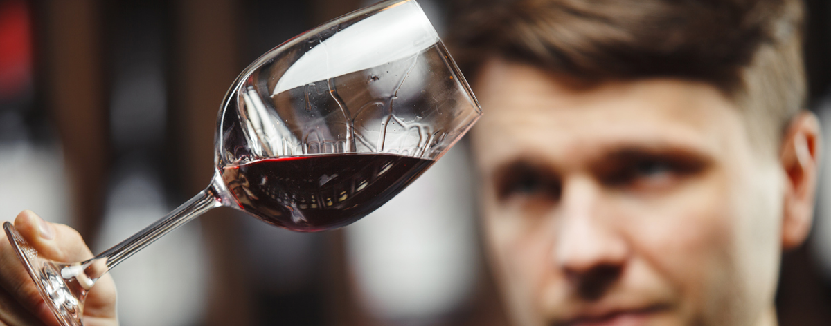 Examine Your Red Wine Carefully in Your Wineglass Looking for Deep Rich Color!