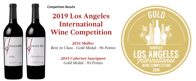 Estate 1856 Wines Wins Best of Class and Gold Medals at LA International Wine Competition!