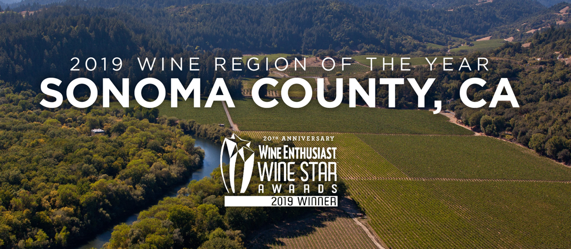 Congratulatons to Sonoma County the Wine Enthusiast Wine Region of the Year!